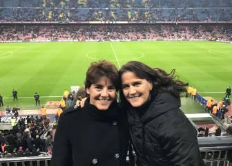 Conchita Martínez no se perdió el Clásico en el Camp Nou