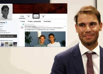 Rafa Nadal, cuarto español con más seguidores en Twitter