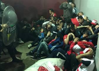Batalla campal con 120 hinchas de Independiente detenidos