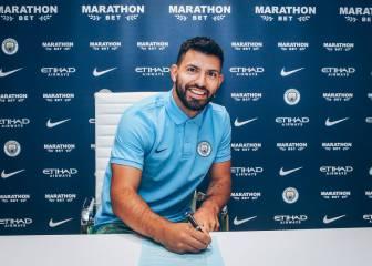 El Kun Agüero seguirá en el Manchester City hasta 2021
