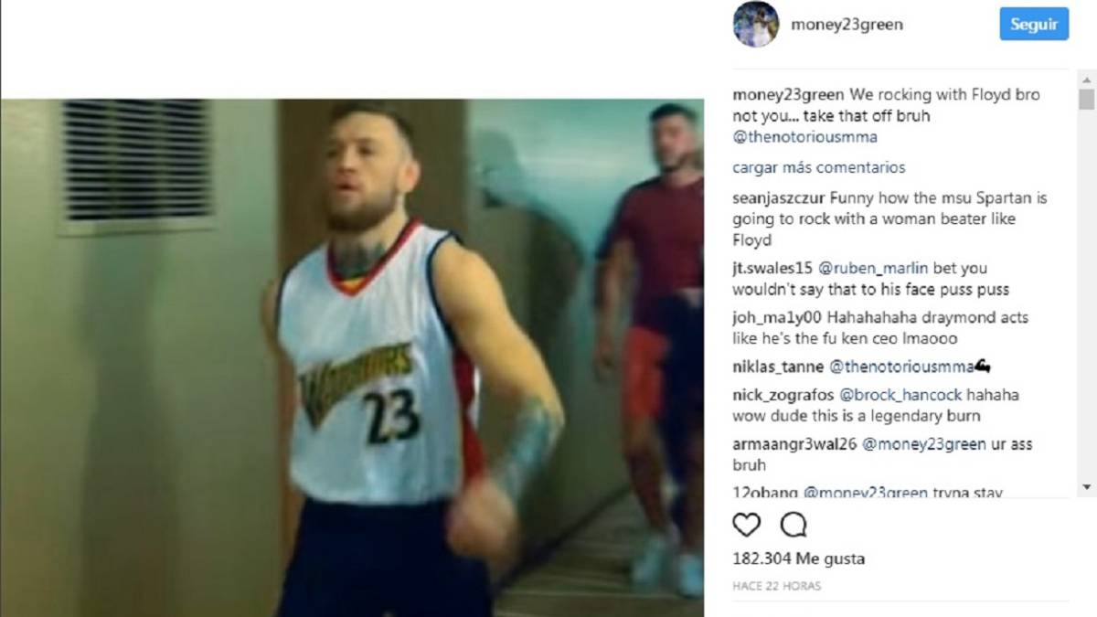 cheap for discount a8f05 b8f59 Draymond Green and McGregor get into a Warriors jersey ...
