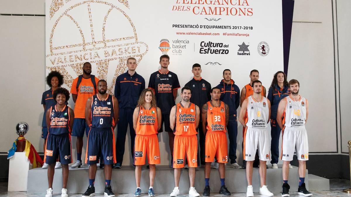 483cb3cb0acaf Valencia Basket  camiseta naranja y gris para la Euroliga - AS.com