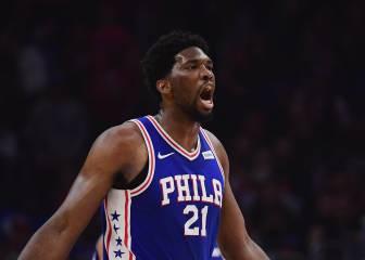 Embiid la lía y Simmons (27+10) logra su mejor marca en la NBA