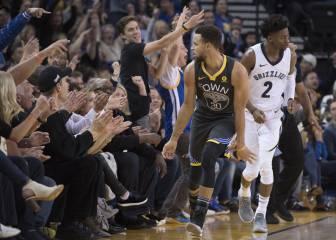 Curry se la lía a Marc (27) en su vuelta: ¡38 y 10 triples en 26'!
