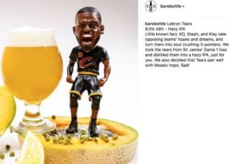 """Cerveza """"lágrimas de LeBron"""", troleo absoluto en San Francisco"""