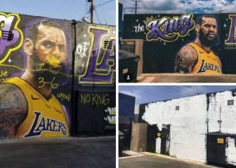 Adiós al mural de LeBron: su artista se rinde ante las pintadas