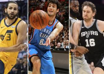 Año clave: ocho de los nueve españoles NBA pueden acabar contrato esta temporada