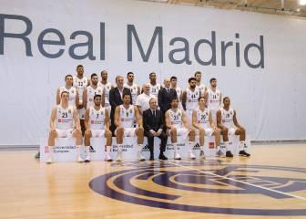 Foto oficial del Real Madrid de baloncesto