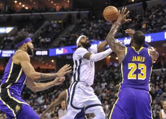 Los Lakers, de desastre en desastre: esta vez tocó Memphis