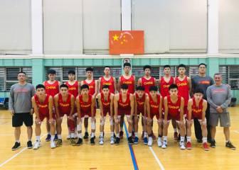 La Selección de China y la NBA Academy Australia en el torneo