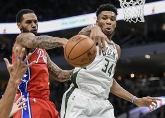NBA Antetokounmpo hace leña del árbol caído de los Sixers 1
