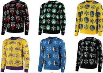 La NBA presenta su nueva colección de jersey navideños