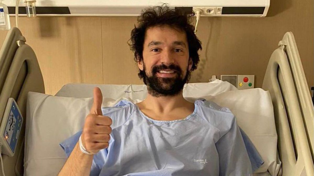 """Sergio-Llull-after-the-operation:-""""Small-step-through-the-workshop"""""""