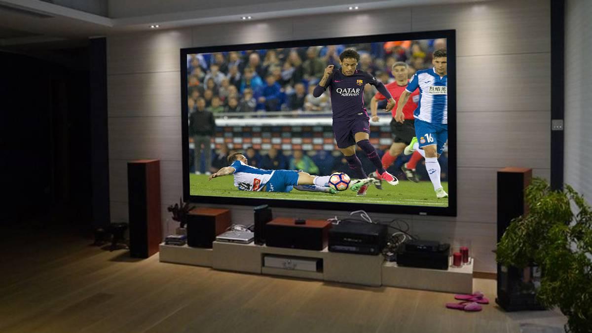 C mo ver el f tbol en casa como neymar proyectores - Proyector cine en casa ...