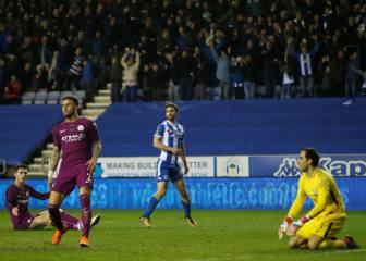 Wigan 1-0 Manchester City: Bravo queda eliminado de la FA Cup