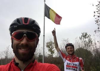 De Gendt y Wellens llegan a Bélgica para la última etapa