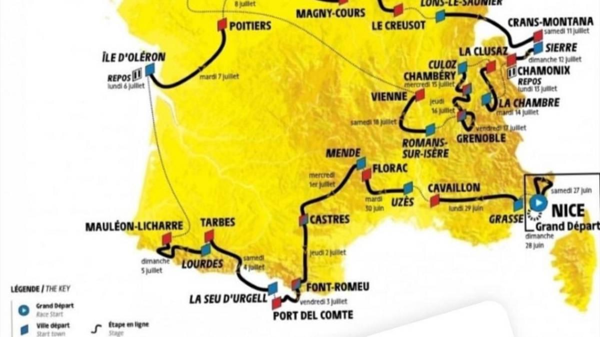 The Tour De France 2020 Will Enter Spain Through Catalonia