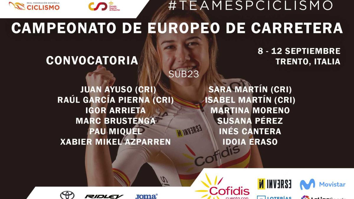 Ayuso-and-Sara-Martín-will-lead-Spain's-under-23-teams-in-the-European-Championship