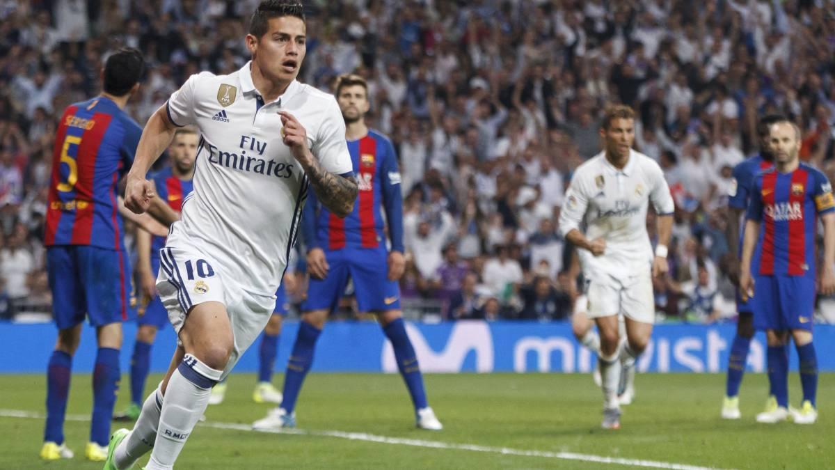 5c87780787 James le marca por primera vez al Barcelona pero no alcanza - AS Colombia