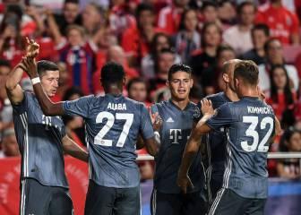 Pase de James y Bayern debuta con triunfo ante Benfica