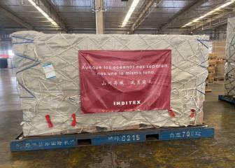 El material sanitario de Inditex llegará el lunes a España