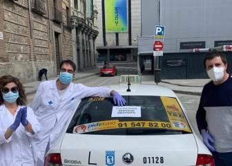 """Luis Martínez, el taxista de los sanitarios: """"Me reciben hasta haciéndome la ola"""""""