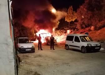 Oleada de quema de coches en Arganda del Rey