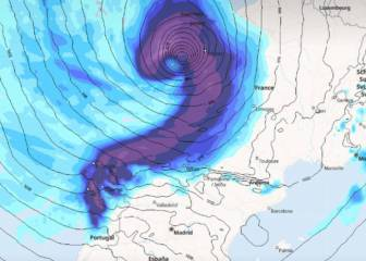La borrasca Álex entra con fuerza en España: desplome de temperaturas y nieve