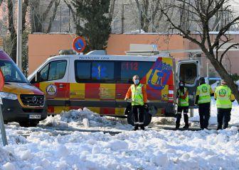 Aparece bajo la nieve el cuerpo sin vida de un hombre en Madrid