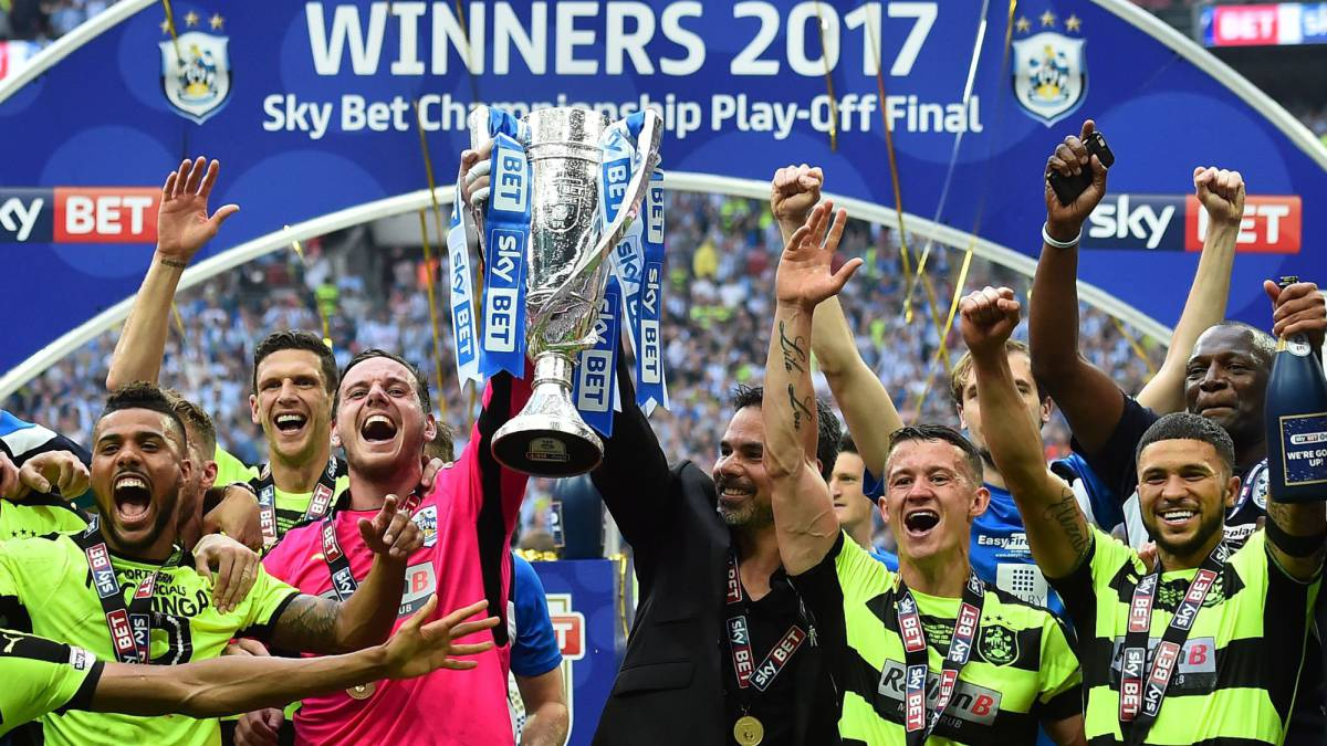 Huddersfield town head for epl after football 39 s richest for Championship league table 99 00
