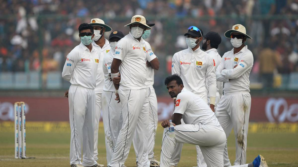 Cricketers vomiting after fielding in delhi smog pothas for Championship league table 99 00