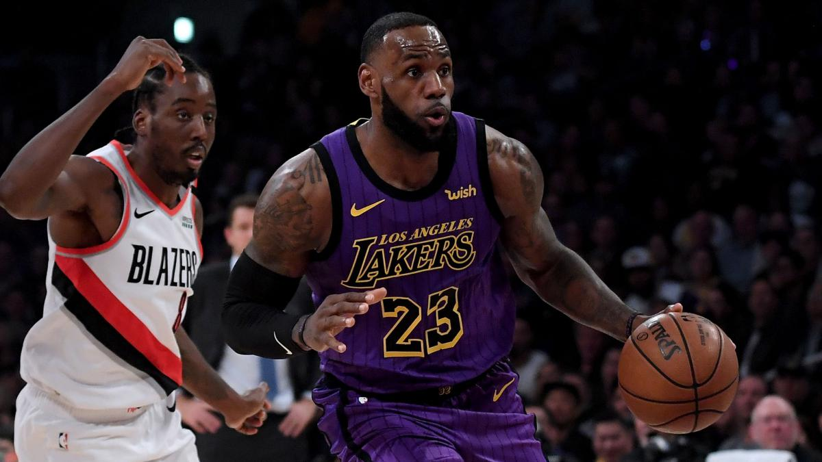 46fc1af124e Los Angeles Lakers star LeBron James went past Wilt Chamberlain and into  fifth on the NBA s all-time scoring list.
