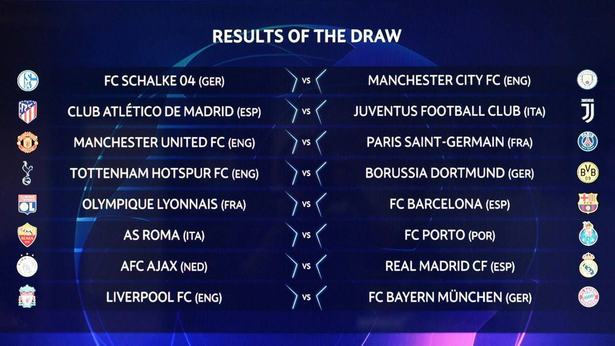 Champions League And Europa League Draw Live Round Of 16 32 As Com