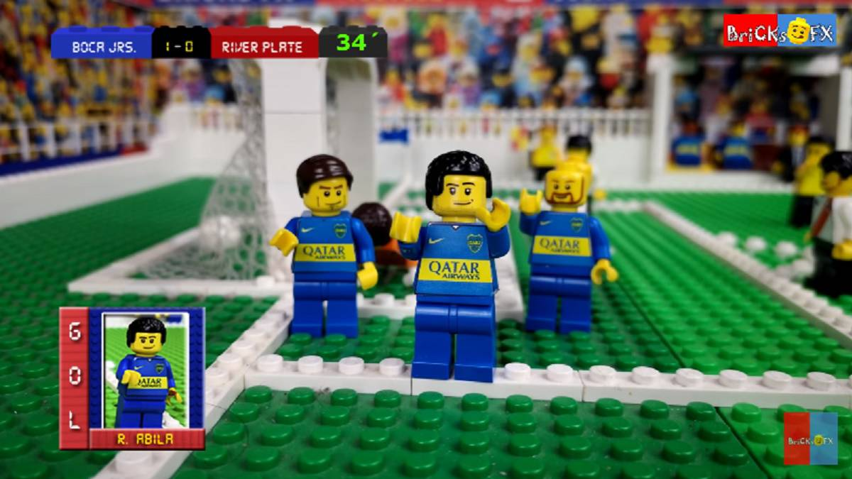 Relive Boca Junior 2 River Plate With Lego Film