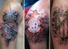 36 tatuajes de escudos de fútbol que te sorprenderán