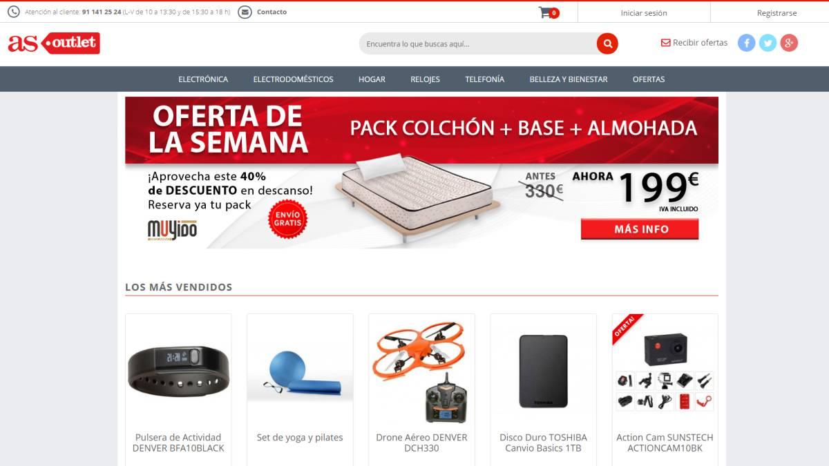 805450251 AS Outlet  la tienda online de AS con descuentos y ofertas para sus  lectores - AS.com