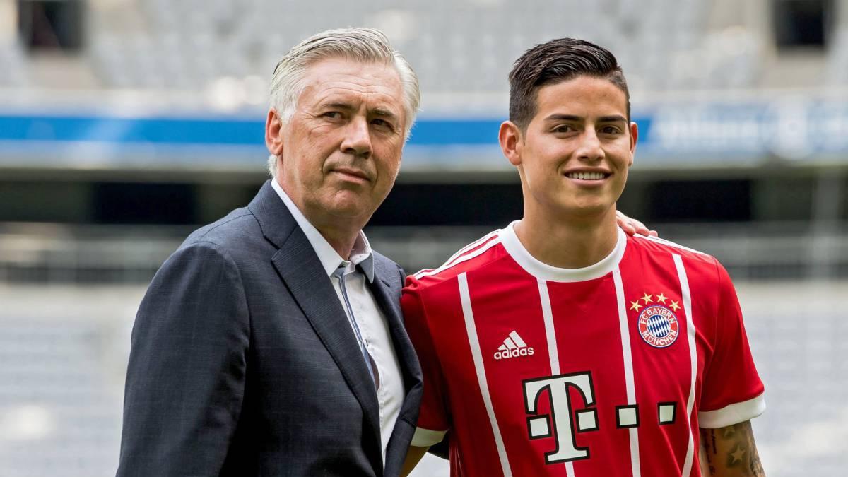 Primera amenaza de Ancelotti a James en el Bayern
