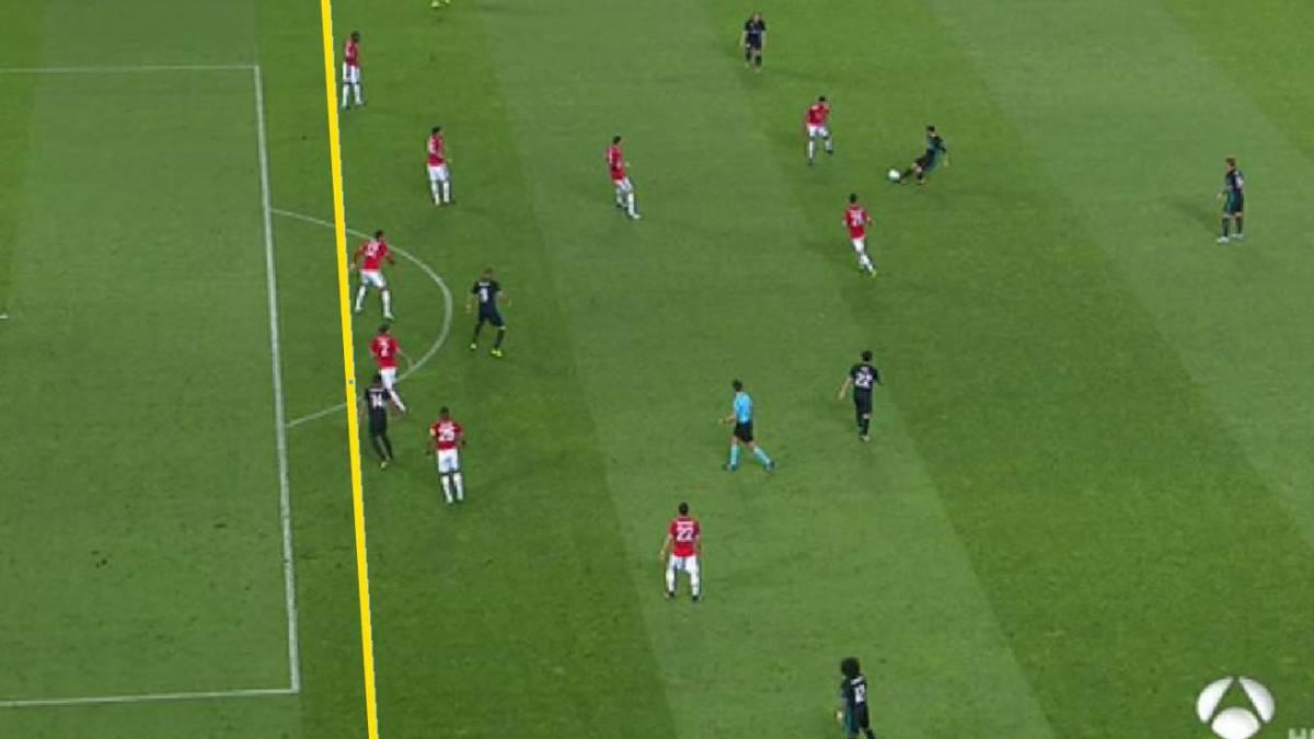 Real madrid mou se quej al rbitro del primer gol era for Cuando es fuera de lugar en un partido de futbol