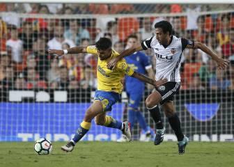 Valencia-Las Palmas en directo online: Liga Santander