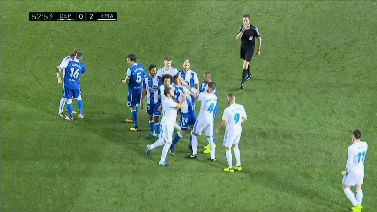 Sergio ramos with depor sending off going top of laliga for Championship league table 99 00