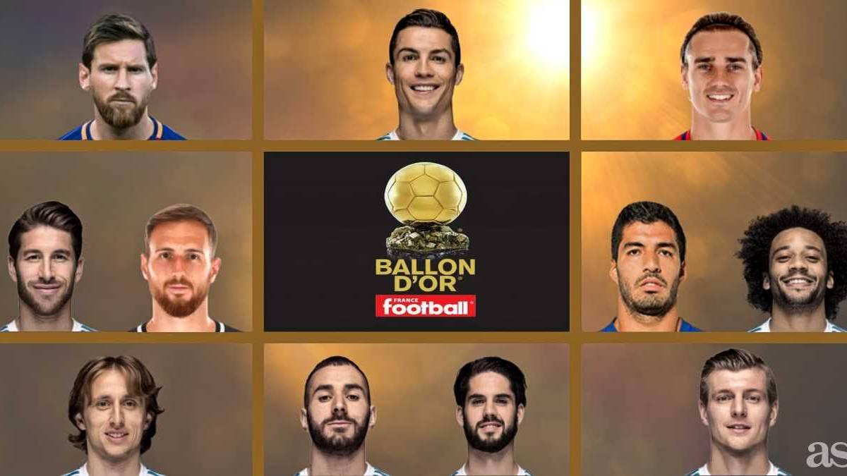 Ya están los 30 nominados: entran Cristiano, Isco y Mbappé ...