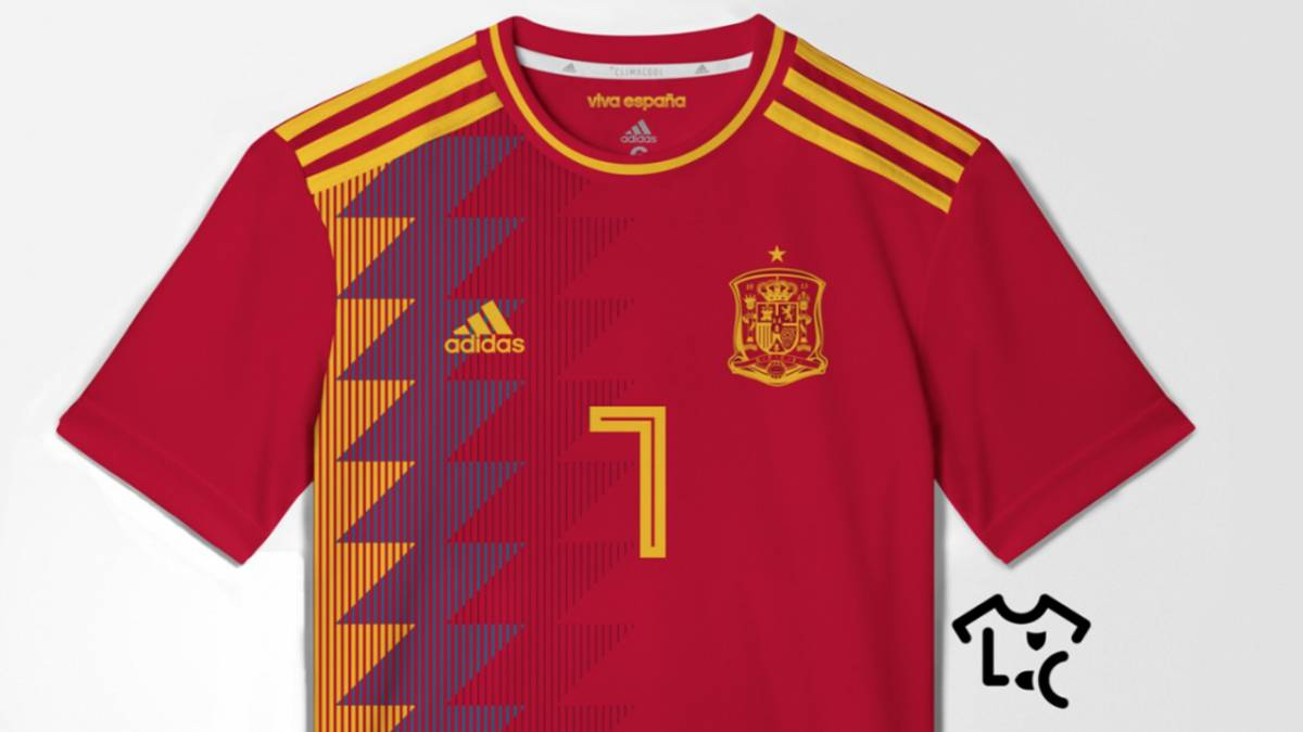 Possible spain 2018 world cup adidas shirt leaked for Spain t shirt football