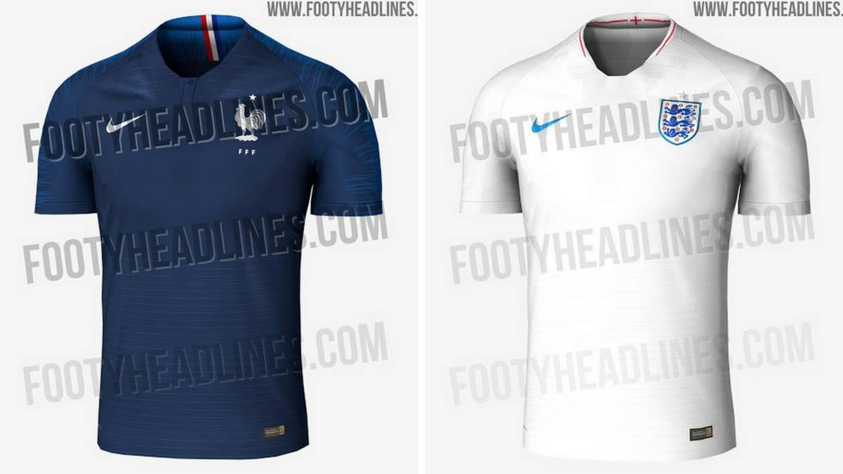6ba2a7d1ad Filtran las camisetas de Francia e Inglaterra para el Mundial - AS.com