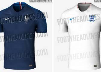 Filtran las camisetas de Francia e Inglaterra para el Mundial