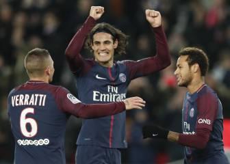 Cavani y los argentinos guían al PSG contra el Nantes