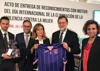Rajoy reconoce al Lega su lucha contra la violencia de género