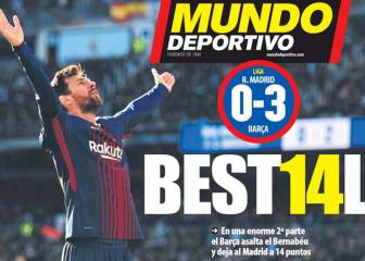 La exhibición del Barça en Madrid, en todas las portadas