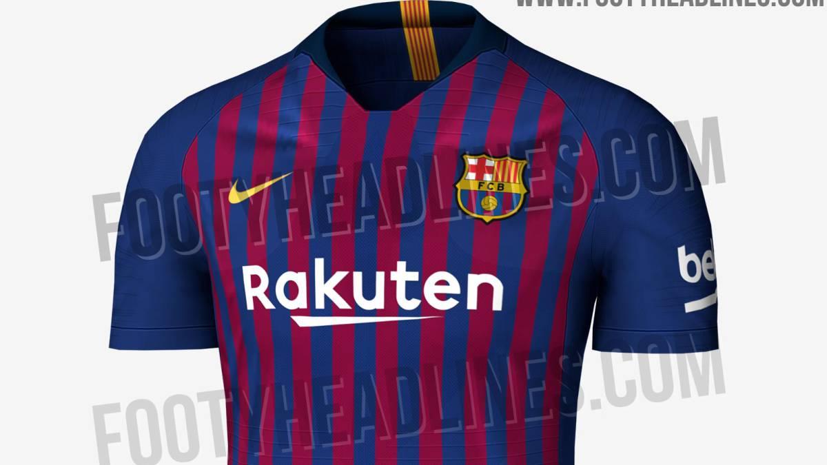 Posible diseño de la primera camiseta del FC Barcelona para la temporada  2018-2019. fa2cca02f26