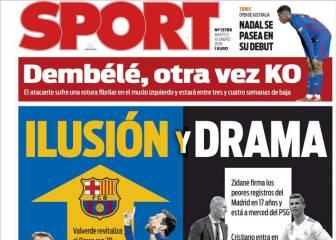 El momento del Barça y Dembélé, en las portadas de Barcelona