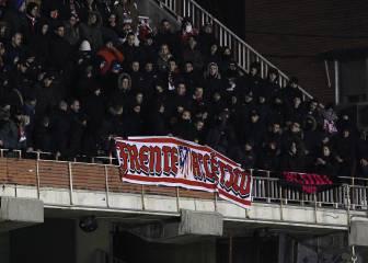 """Nueve grupos ultra """"de riesgo"""" siguen activos en el fútbol español"""